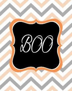 The Latest Find - BOO Printable... Great for my mudroom at Halloween