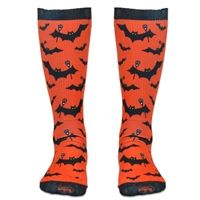 Girls Lacrosse Sublimated Mid Calf Socks Bats with Lacrosse Sticks. Fun Halloween Socks for Lax Girls! LuLaLax.com