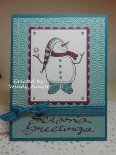 CC346~Snow Much Fun by WeeBeeStampin - Cards and Paper Crafts at Splitcoaststampers