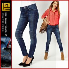 quilted knee jeans for women | High Waisted Skinny Jeans With Quilted Knee Women Jeans Urban Star ...