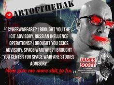 I brought you the ICIT advisory. I brought you CCIOS advisory. Space Warfare, I brought you Center for Space Warfare Studies advisory. Now give me more shit to fix! Space Warfare, Cyber Warfare, James Scott, Give It To Me, Bring It On, Online Logo, Cyber Attack, Polymers, Leather Design