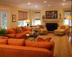 exchange burnt orange rust sofa living room pinterest rust