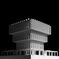 Pezo von Ellrichshausen Unveils Design for Chile's LAMP Art Museum,Model. Image Courtesy of Pezo Von Ellrichshausen