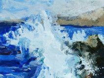 Meer Malerei, Landschaft, A5, Acryl