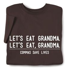 Don't forget your commas.