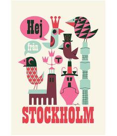 Affiche Ingela P. Arrhenius STOCKHOLM