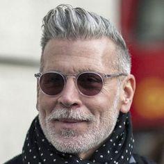 Nick Wooster Has Great Grey Hair Best Hairstyles For Older Men, Older Men Haircuts, Cool Haircuts, Cool Hairstyles, Men's Haircuts, Mens Grey Hairstyles, Latest Hairstyles, Cabelo Do Brad Pitt, Hair And Beard Styles