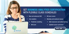 Look no further, DexLab Analytics has a celebrated Business Analytics training course with an updated curriculum, with both online as well as classroom training.