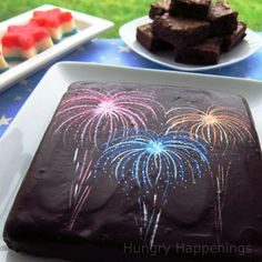 Add some fireworks to your brownies this 4th of July. Recipe  How-to! ~CallMeCrissy (Via: Hungry Happenings)