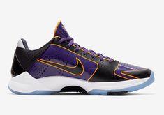 Nike Kobe, Nike Snkrs, Purple Gold, Purple And Black, Black Gold, Kobe Sneakers, Kobe Bryant Pictures, Clean Shoes, Basketball Shoes
