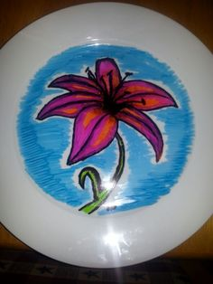 Sharpie and Plate