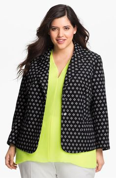 Vince Camuto Diamond Jacquard Blazer (Plus) available at #Nordstrom