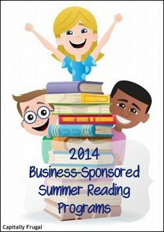 Want to encourage your youngsters to read more?  Check out this LONG list of 2014 Business-Sponsored Summer Reading Programs. There are some cool prizes and freebies offered as incentives!