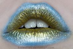 Blue & green lips