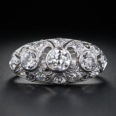 edwardian platinum diamond dome ring