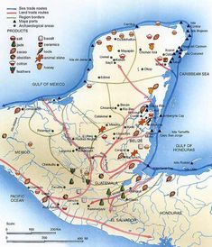 Map Of The Maya Civilization Chichen Itza Is Located In The Upper