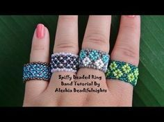 DIY Peyote | Perlenring fädeln | Schmuck | Beaded delica ring | Beadwork jewelry - YouTube