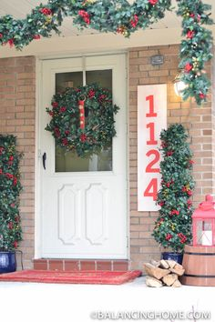 Christmas Front Porch featuring Outdoor Berry Foliage and Topiaries from Balsam Hill. Outdoor Garland, Outdoor Topiary, Christmas Wreaths, Christmas Crafts, Balsam Hill, Wreaths And Garlands, Holiday Essentials, Berry Wreath, Christmas Wonderland
