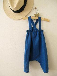 コバルトブルーのサロペット - かわいいハンドメイドベビー服 lepolepo ルポルポ