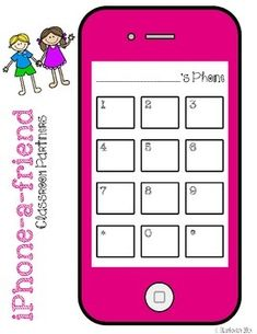 Phone A Friend: Classroom Partner Management Math Bingo, My Teacher, Classroom Management, Coloring Pages, Back To School, Ohio, Safety, Students, Organization