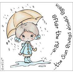 crafters companion swalk after the rain after the rain the sun always shines again umbrella rain regen paraplu