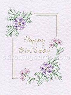 Happy Birthday : Stitching card pattern