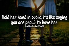 Hold her hand