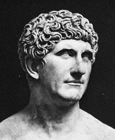 Bust of Marc Antony. Marc Antony was one of Caesars close friends and he was a Roman orator, politician and soldier.