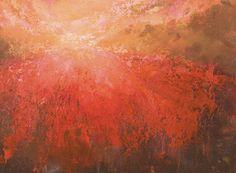 Red horizon, 30 x 40 cm, acryl on canvas