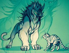 Kitty .vs. Demon by Hedvig Häggman-Sund (Vixiearts)