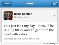 Ha i think i'm now a Blake Shelton fan, even if I don't rock to country