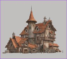 Awesome Medieval House Plans Medieval houses Concept art Medieval