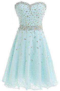 AHC180 A-line Strapless Sweetheart Neck Chiffon with Beaded Short Homecoming Dresses