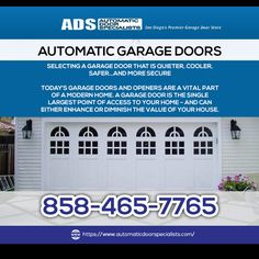 Automatic Door Specialists are the best San Diego's provider of automatic garage door repair. Exceptionally pro and skilled service. The first choice for garage door and gate repair. 858-465-7765