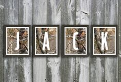 Camouflage Baby Name - Wall Art - Personalized Nursery Art - Hunting Camo Nursery