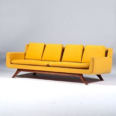 Anonymous; Teak Sofa by Otmar of Cincinnati, c1960.