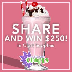 3/31. Share to Win $250 in Craft Supplies, or a Cricut Explore Air!
