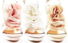 ruffle pastel shoes, great for a wedding dress- carrie bradshaw shoes