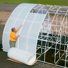 Solexx greenhouse rolls go right over the top of the greenhouse in one continuous piece.