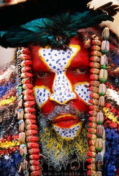 Portrait of Panga man, Papua New Guinea