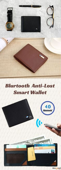 US$37.99 + Free shipping. Smart Wallet, Anti-Lost Wallet, Anti-Thief Wallet, Bluetooth Wallet, Wallet with Selfie Button. Color: Black, Brown, Pink, Vermilion. Material: Genuine Leather. Excellent Function & Quality Material yet Reasonable Price.