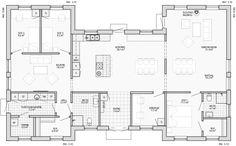 Entréplan 173,3 m<sup>2</sup> Family House Plans, Floor Plans, How To Plan, Architecture, Inspiration, Future, Home Decor, Ideas, Tiny Houses
