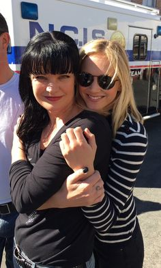 """""""Me and Emily Wickersham today at NCIS 300 celebration."""" ~ Pauley Perrette"""
