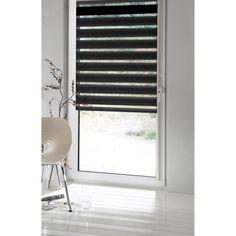 Store enrouleur jour/nuit polyester INSPIRE, noir noir n°0, 87x190 cm