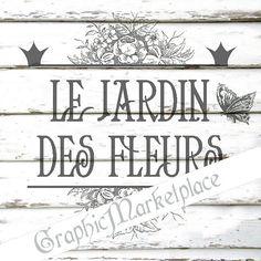 Jardin+Fleurs+Flowers+Garden+Instant+by+GraphicMarketplace+on+Etsy,+$1.00