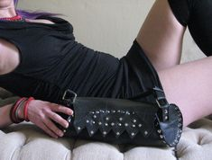 This sexy studded shoulder handbag is made from recycled inner tube. Handmade with love by us for you. It makes the perfect vegan gift for women. For the daring women! For the single ladies, these are the studs in your life! ☺