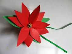 Poinsettia craft