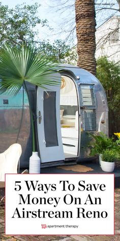 Whether you're using it for vacation or full-time living, here are 5 money saving tips for renovating an Airstream. #airstream #renovating #airstreamideas #camping #rv #rvlife #tinytours #renovatingtips #renovating #smallspaces Ways To Save Money, Money Saving Tips, Airstream Renovation, Airstream Trailers, Building Code, Office Workspace, Rv Life, Going Home, Apartment Therapy
