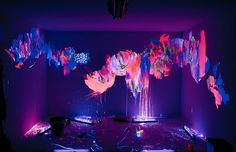 swag art girl graffiti fashion Glitter dope style Awesome room bedroom Home inspiration want psychedelic boy flowers wow smile amazing Interior Design bright neon roses paint decoration glow glow in the dark <3 floral design