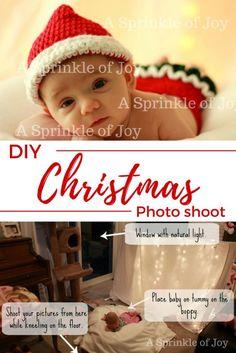 DIY Christmas Photo Shoot - A Sprinkle of Joy